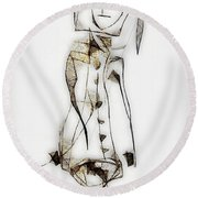 Abstraction 2834 Round Beach Towel