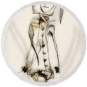 Abstraction 2836 Round Beach Towel