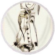 Abstraction 2840 Round Beach Towel