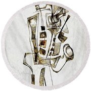Abstraction 2844 Round Beach Towel