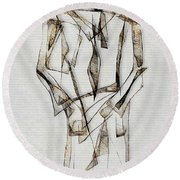 Abstraction 2849 Round Beach Towel