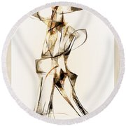 Abstraction 2915 Round Beach Towel