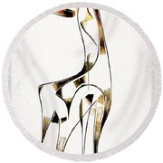 Abstraction 2920 Round Beach Towel