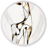 Abstraction 2923 Round Beach Towel
