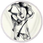 Abstraction 2925 Round Beach Towel