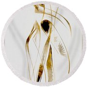 Abstraction 2934 Round Beach Towel