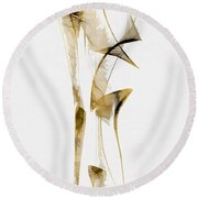 Abstraction 2937 Round Beach Towel