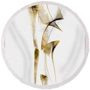 Abstraction 2938 Round Beach Towel