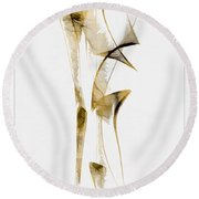 Abstraction 2939 Round Beach Towel
