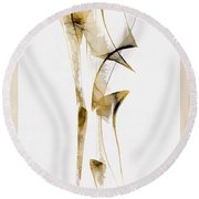 Abstraction 2940 Round Beach Towel