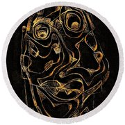 Abstraction 2979 Round Beach Towel