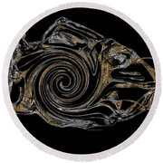 Abstraction 2983 Round Beach Towel