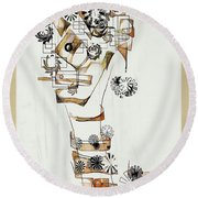 Abstraction 2990 Round Beach Towel