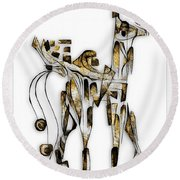 Abstraction 3092 Round Beach Towel