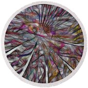 Abstraction 3096 Round Beach Towel