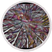 Abstraction 3097 Round Beach Towel
