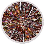 Abstraction 3098 Round Beach Towel