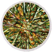 Abstraction 3099 Round Beach Towel