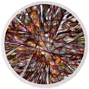 Abstraction 3100 Round Beach Towel