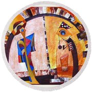 Abstraction 3220 Round Beach Towel