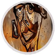 Abstraction 3299 Round Beach Towel