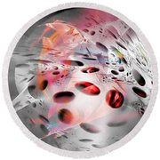 Abstraction 3304 Round Beach Towel