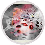 Abstraction 3307 Round Beach Towel