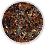 Abstraction 3374 Round Beach Towel