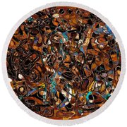 Abstraction 3375 Round Beach Towel