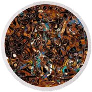 Abstraction 3376 Round Beach Towel