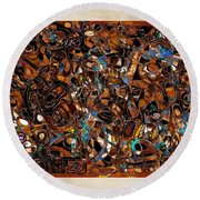 Abstraction 3377 Round Beach Towel