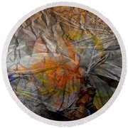 Abstraction 3414 Round Beach Towel
