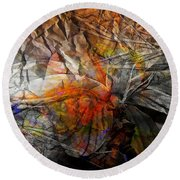 Abstraction 3415 Round Beach Towel