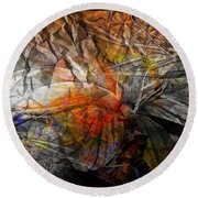 Abstraction 3416 Round Beach Towel
