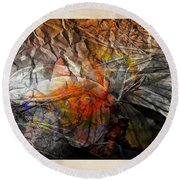 Abstraction 3417 Round Beach Towel