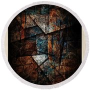 Abstraction 3421 Round Beach Towel