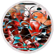 Abstraction 3422 Round Beach Towel