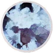 Abstraction #35 Round Beach Towel