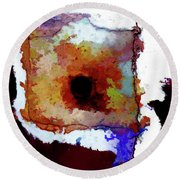 Abstraction #39 Round Beach Towel