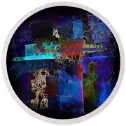 Abstraction 773 - Marucii Round Beach Towel