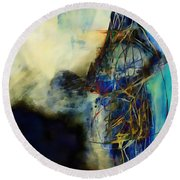 Abstraction 786 - Marucii Round Beach Towel
