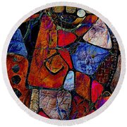 Abstraction 858 -marucii Round Beach Towel