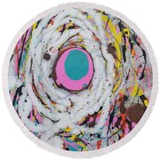 Abstraction #91  Round Beach Towel