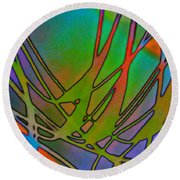 Abstraction Round Beach Towel