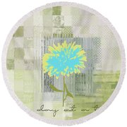 Abstractionnel - 29grfl3c-gr3 Round Beach Towel