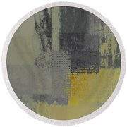 Abstractionnel - Ww59j121129158yll Round Beach Towel