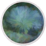 Abstractions From Nature - Live Oak Collar Round Beach Towel