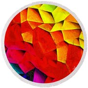 Abstractions Round Beach Towel
