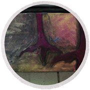 Abstracty Crows Feet Round Beach Towel
