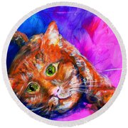Abstrcat Round Beach Towel